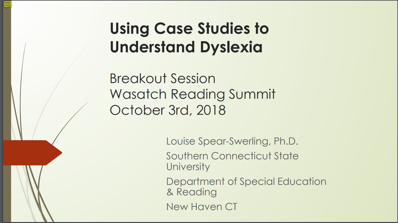 Understanding Dyslexia And Reading >> Reading Horizons Using Case Studies To Understand Dyslexia